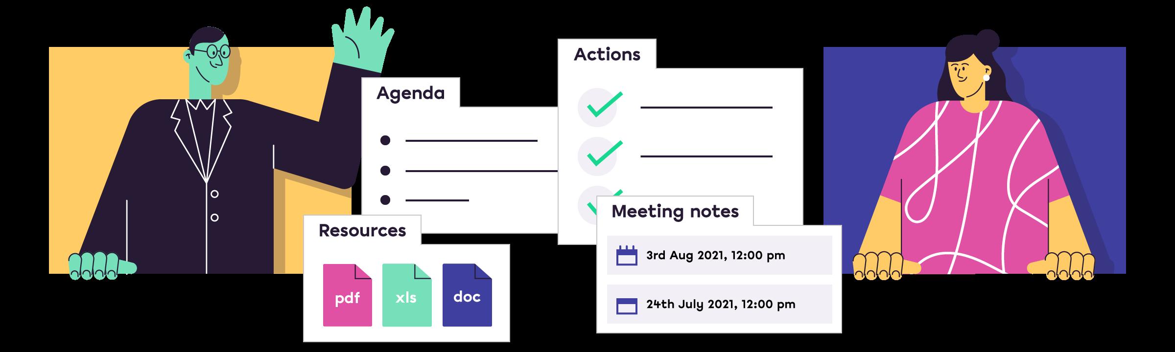 The client meeting platform