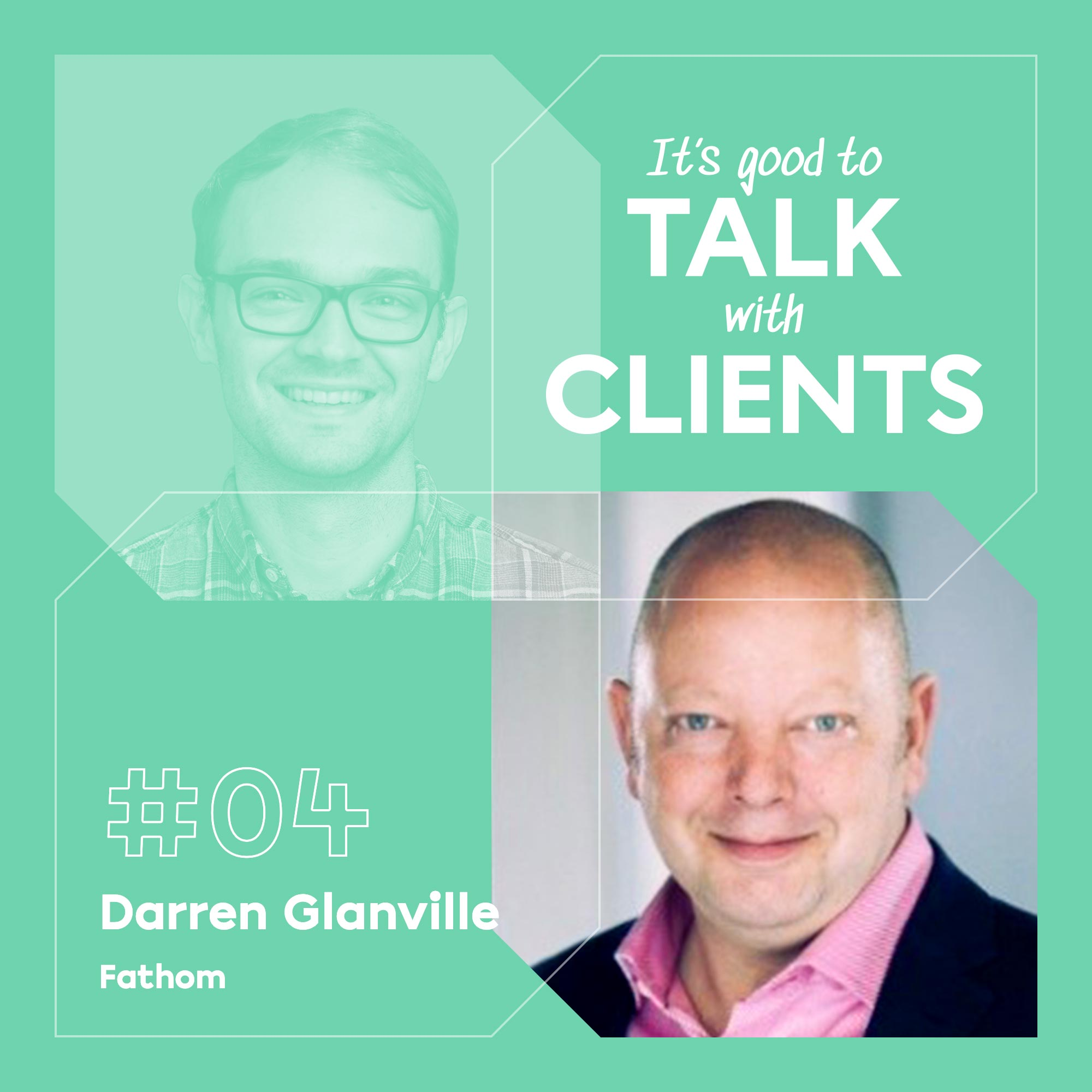 It's good to talk with... Darren Glanville