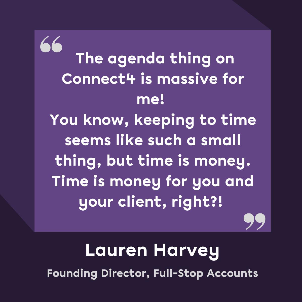 Lauren Harvey Agendas