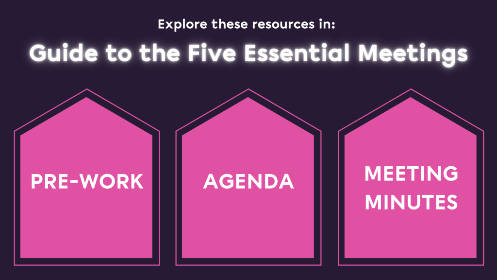 Guide to the Five Essential Meetings