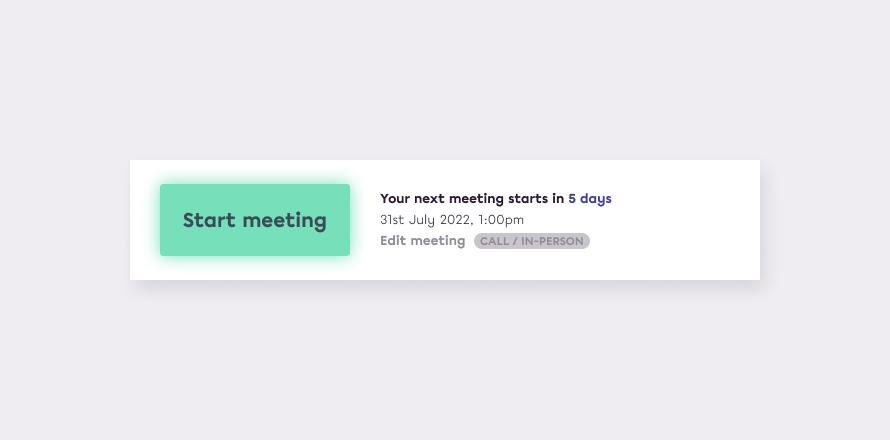 In-person meetings